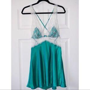 Victoria's Secret Emerald Lace Teddy Dress